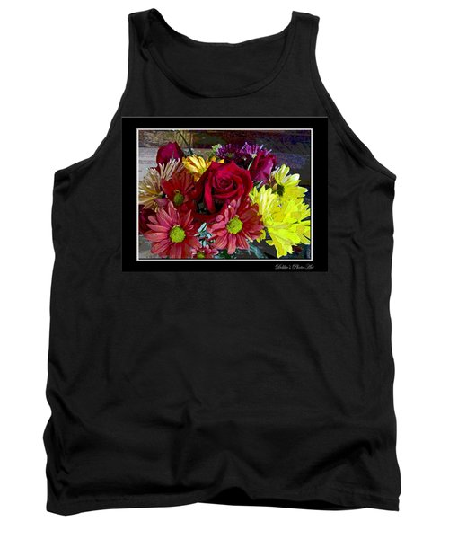 Tank Top featuring the digital art Autumn Boquet by Debbie Portwood