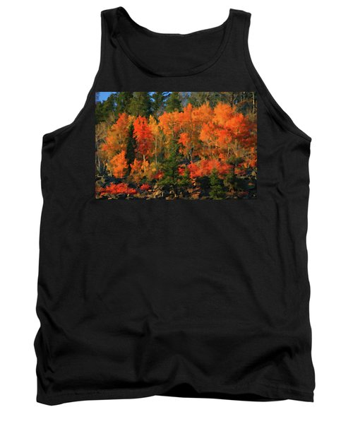 Tank Top featuring the digital art Autumn Water Colors  by Gary Baird
