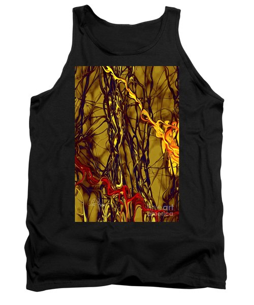 Tank Top featuring the digital art Shapes Of Fire by Leo Symon