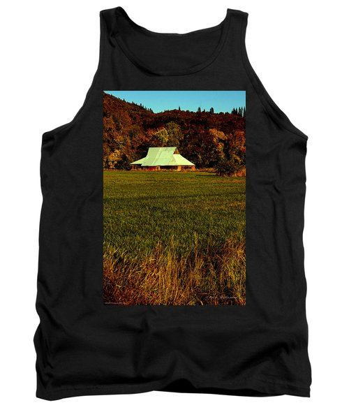 Tank Top featuring the photograph Barn In The Style Of The 60s by Mick Anderson