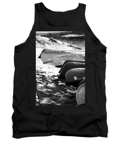 Tank Top featuring the photograph Beached Kayaks by Julia Wilcox