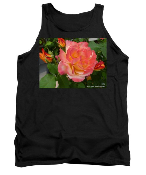 Tank Top featuring the photograph Beautiful Rose With Buds by Lingfai Leung