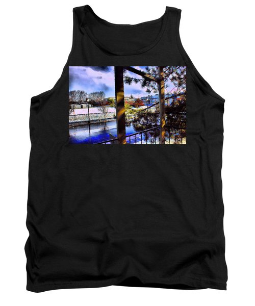 Tank Top featuring the mixed media Beaverton  H.s. Winter 2011 by Terence Morrissey