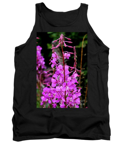 Tank Top featuring the photograph Bee On Fireweed In Alaska by Kathy  White