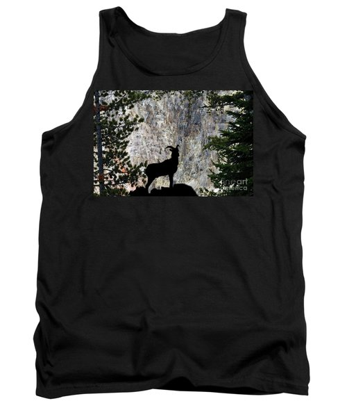 Tank Top featuring the photograph Big Horn Sheep Silhouette by Dan Friend