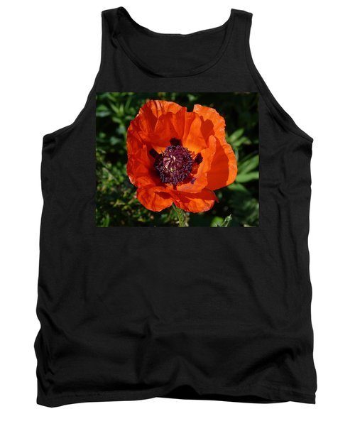Tank Top featuring the photograph Big Red Poppy by Lynn Bolt