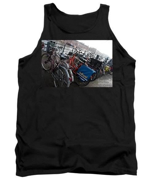 Bikes In Amsterdam Tank Top by Carol Ailles