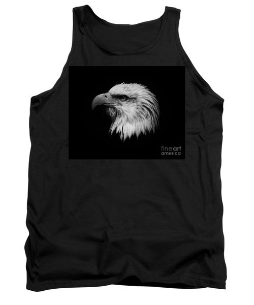 Tank Top featuring the photograph Black And White Eagle by Steve McKinzie