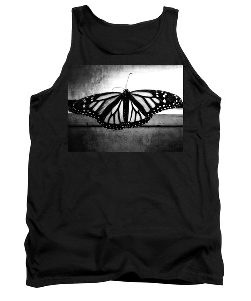 Tank Top featuring the photograph Black Butterfly by Julia Wilcox