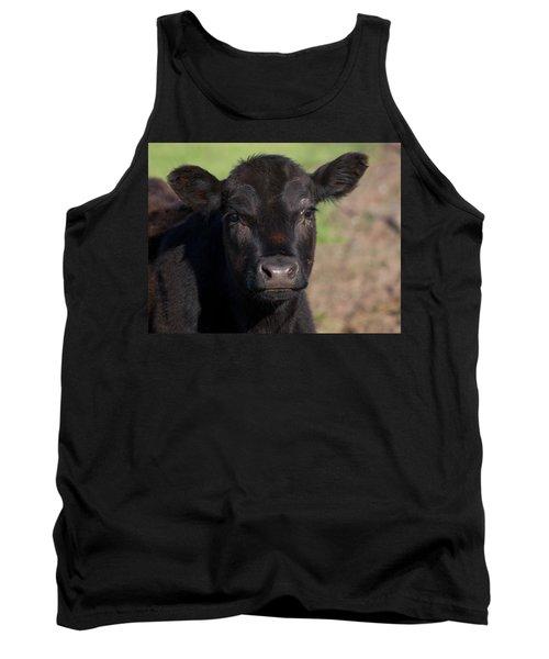 Black Cow Tank Top