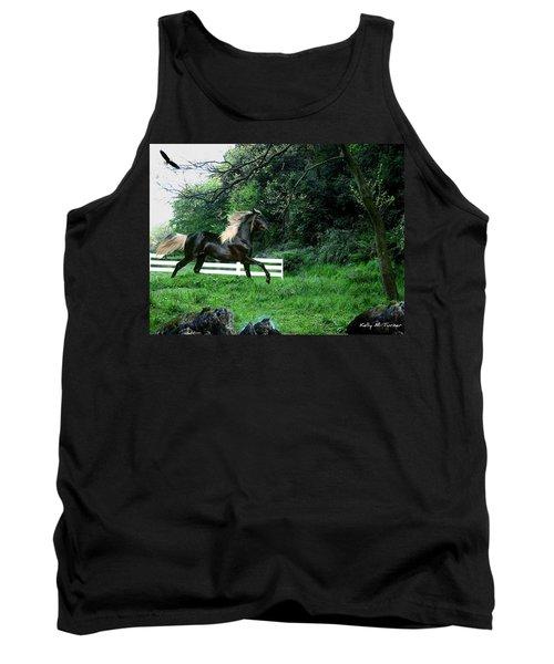 Black Stallion Tank Top by Kelly Turner