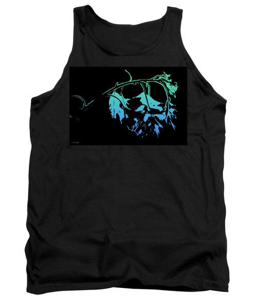 Tank Top featuring the photograph Blue On Black by Lauren Radke