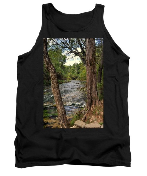 Tank Top featuring the photograph Blue Spring Branch by Marty Koch
