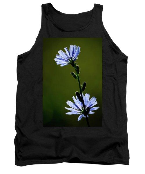 Blue Wildflower Tank Top