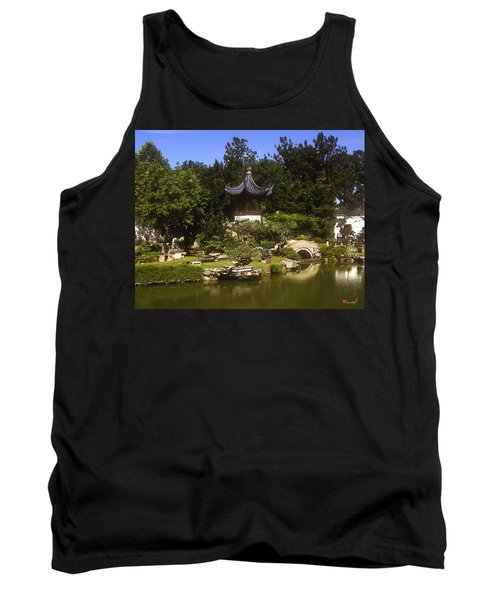 Tank Top featuring the photograph Bonzai Garden And Gazebo 19l by Gerry Gantt