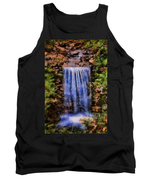 Tank Top featuring the digital art Botanical Garden Falls by Lynne Jenkins