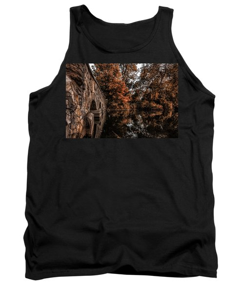 Tank Top featuring the photograph Bridge To Autumn by Tom Gort
