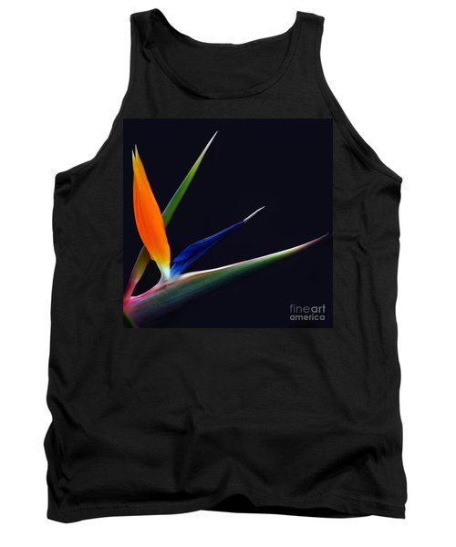 Bright Bird Of Paradise Square Frame Tank Top