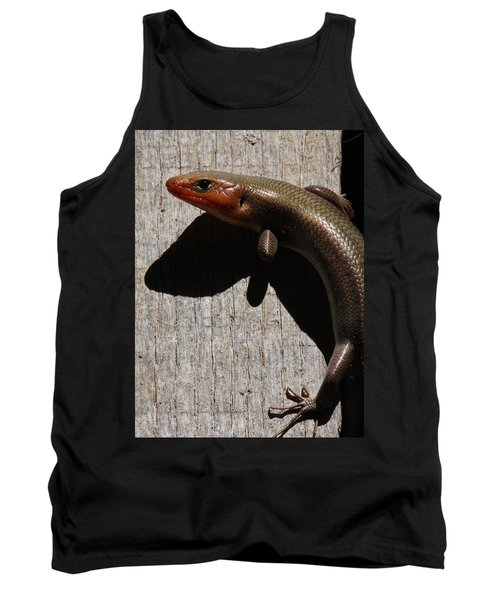 Broad-headed Skink On Barn  Tank Top