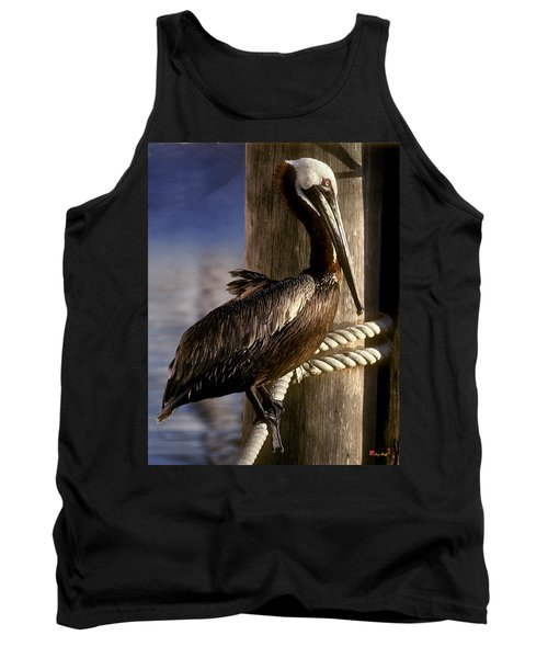 Tank Top featuring the photograph Brown Pelican In Key West 9l by Gerry Gantt