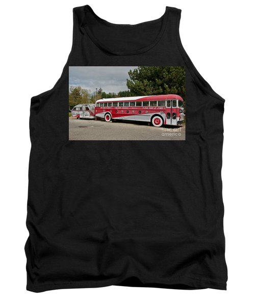 Tank Top featuring the photograph Buddy Holly 1958 Tour Of Stars Bus Art Prints by Valerie Garner