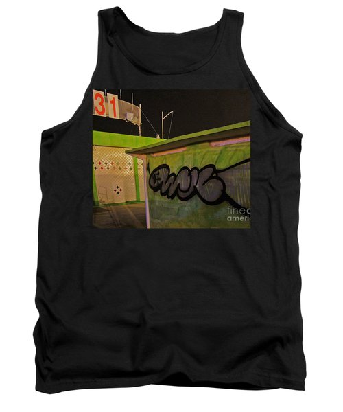 Tank Top featuring the photograph Building 31 Rimini Beach Graffiti by Andy Prendy