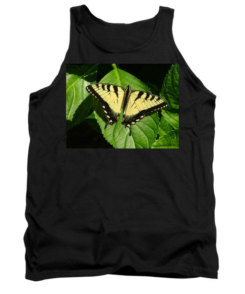 Butterfly On Leaf Tank Top