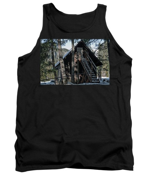 Tank Top featuring the photograph Cabin Get Away by Tikvah's Hope