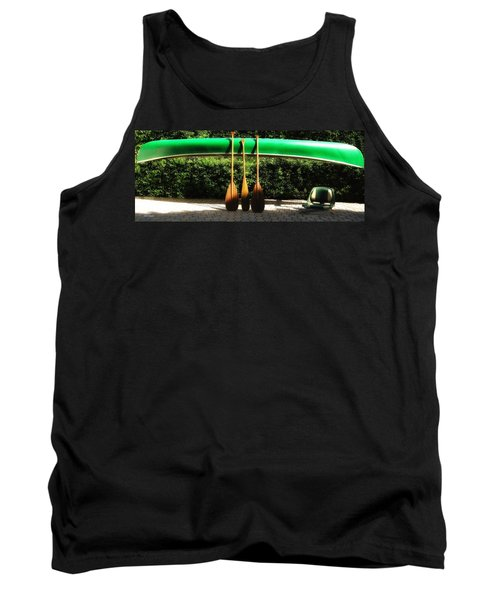 Tank Top featuring the photograph Canoe To Nowhere by Alec Drake