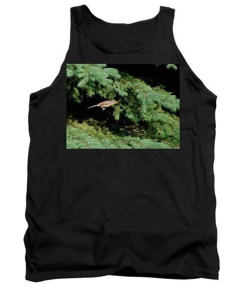 Tank Top featuring the photograph Cardinal Just A Hop Away by Thomas Woolworth