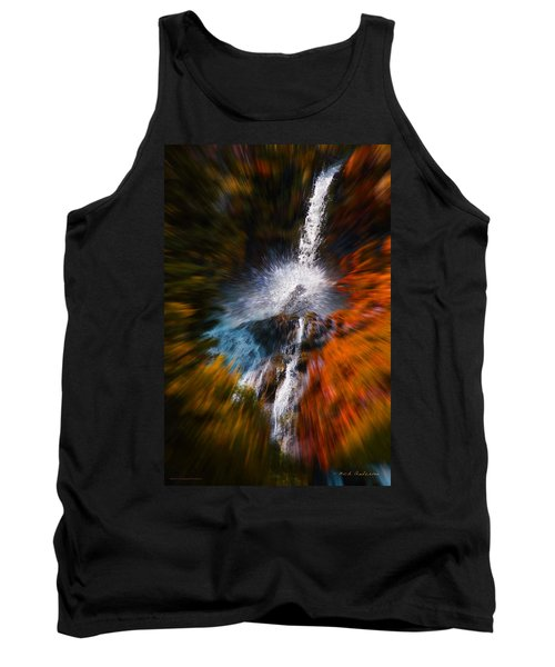Tank Top featuring the photograph Cascade Waterfall by Mick Anderson