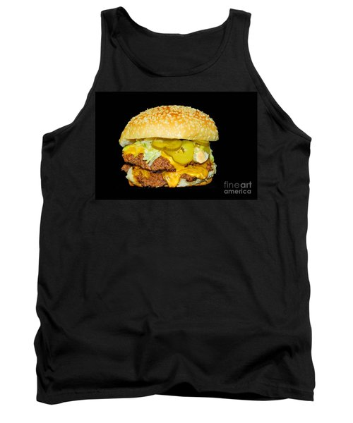 Tank Top featuring the photograph Cheeseburger by Cindy Manero