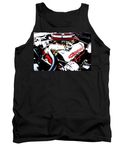 Tank Top featuring the digital art Chevy Power Plant by Tony Cooper