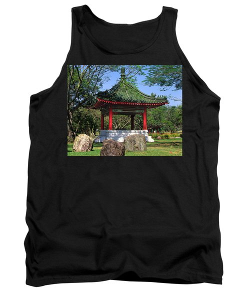 Tank Top featuring the photograph Chinese Gardens Garden Pavilion 21b by Gerry Gantt