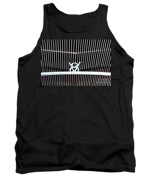 Tank Top featuring the digital art Classic Ford Grill by Tony Cooper