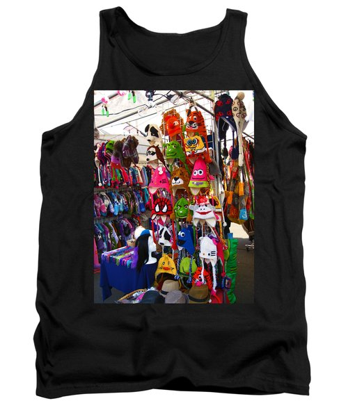 Tank Top featuring the photograph Colorful Character Hats by Kym Backland
