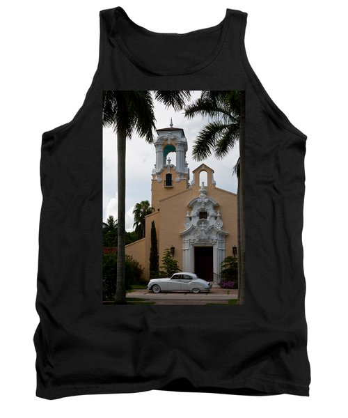 Tank Top featuring the photograph Congregational Church Front Door by Ed Gleichman