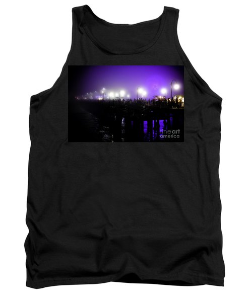 Cool Night At Santa Monica Pier Tank Top by Clayton Bruster