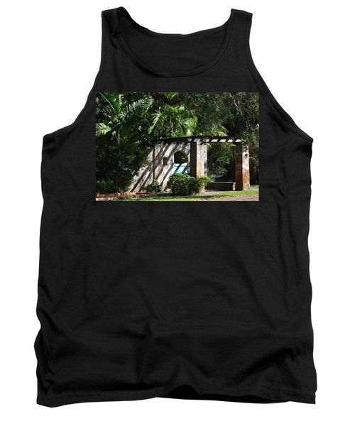 Tank Top featuring the photograph Coral Gables Gate by Ed Gleichman