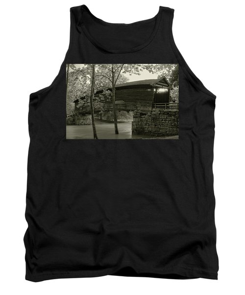 Tank Top featuring the photograph Covered Bridge by Mary Almond