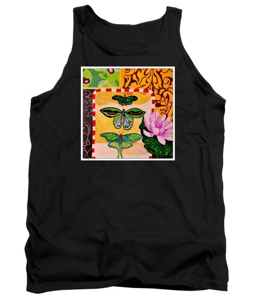 Oil Collage Tank Top