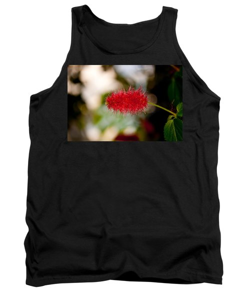 Tank Top featuring the photograph Crimson Bottle Brush by Tikvah's Hope