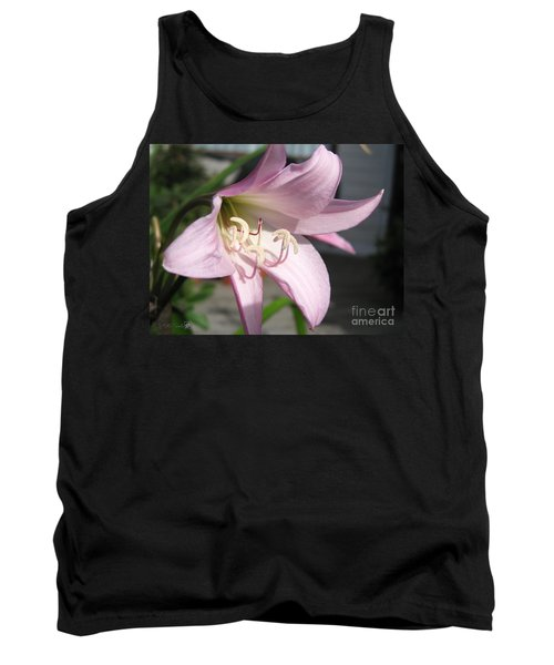 Crinum Lily Named Powellii Tank Top by J McCombie