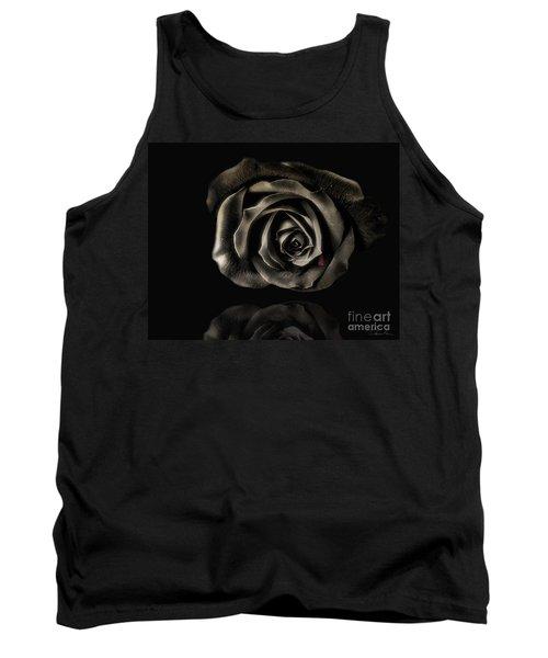 Crying Black Rose Tank Top by Danuta Bennett