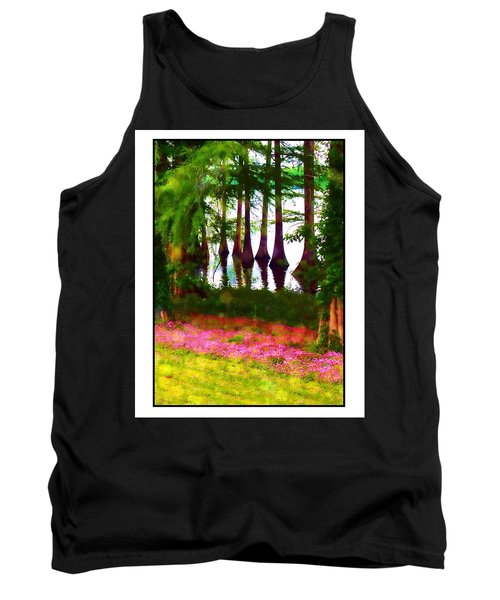 Cypress With Oxalis Tank Top by Judi Bagwell