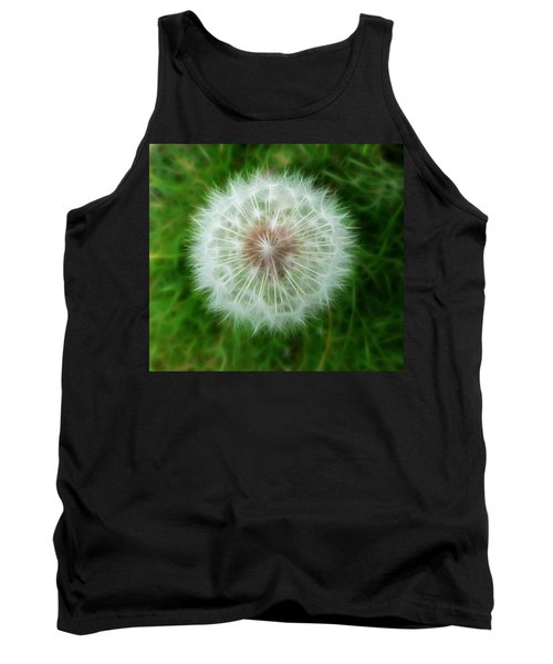 Tank Top featuring the photograph Dandelion Seed Head by Lynn Bolt