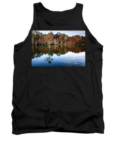 Tank Top featuring the photograph Beaver's Bend Defiant Cypress by Tamyra Ayles
