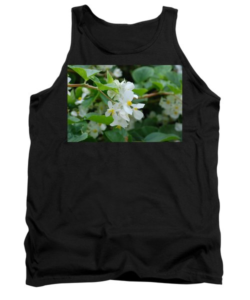 Tank Top featuring the photograph Delicate White Flower by Jennifer Ancker