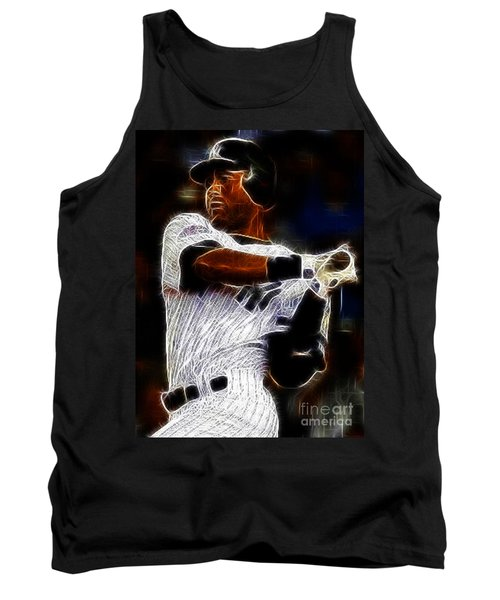 Derek Jeter New York Yankee Tank Top by Paul Ward