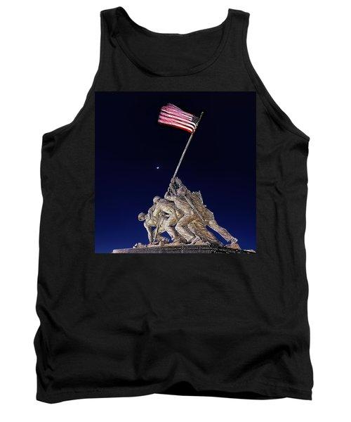 Digital Drawing - Iwo Jima Memorial At Dusk Tank Top